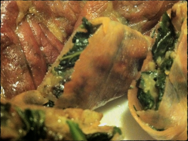 Prosciutto wrapped Spinach Bites