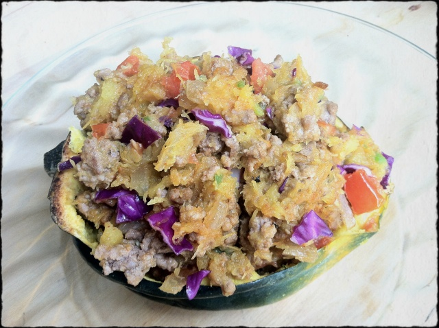 Acorn Squash and Ground Beef Medley
